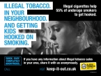 Hundreds of tip offs about illegal tobacco